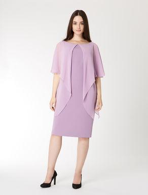 Vestido de triacetato y georgette