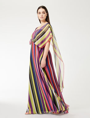 Robe longue en georgette