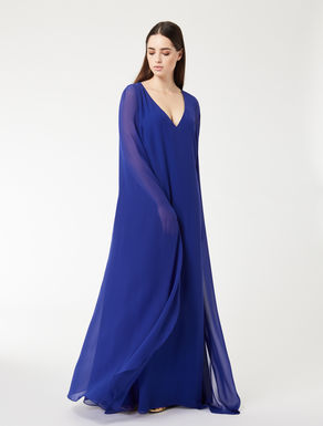 Robe longue en georgette de soie