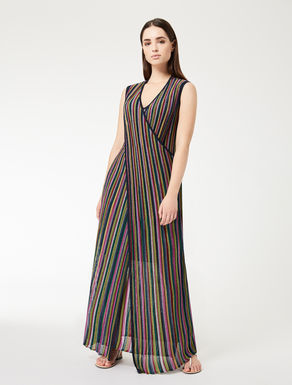 Long lamé dress