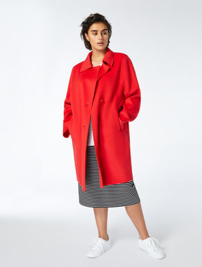 Double wool-nylon coat