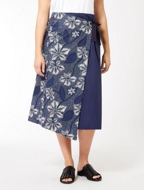 Poplin skirt