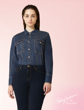 Camicia body in denim