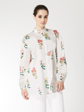 Printed cotton satin shirt