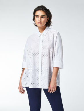 Cotton broderie anglaise shirt