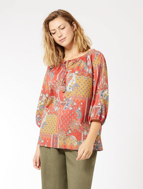 Cotton muslin tunic