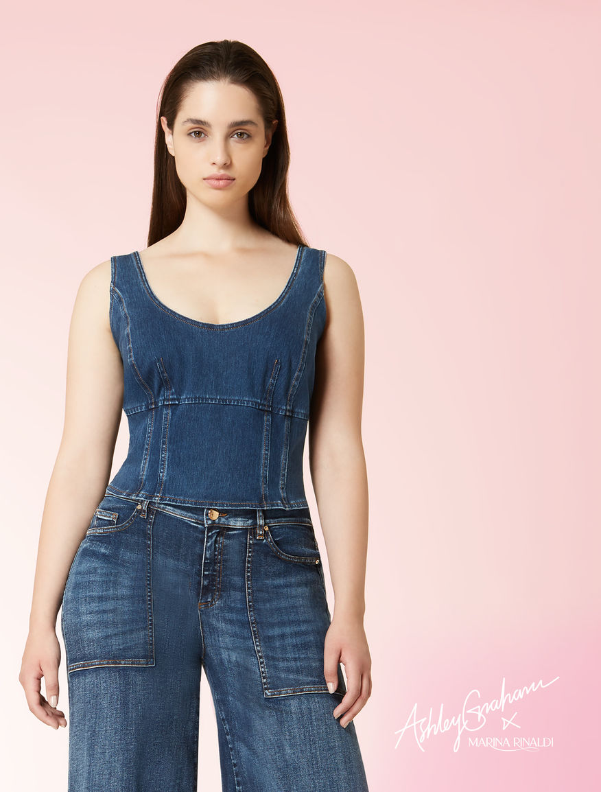 Top court en denim