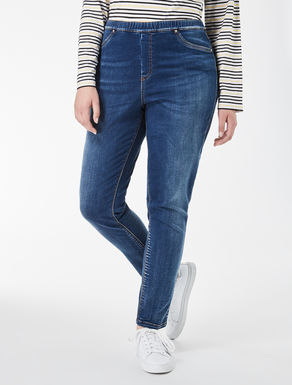 Jeans im Leggings-Fit aus Satin-Denim