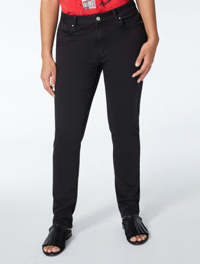Wonder-fit compact jersey trousers