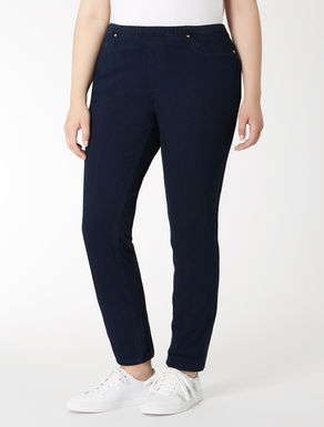 Denim jersey jeggings