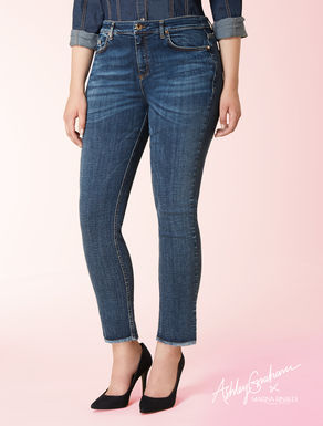 Cropped Jeans aus Stretchdenim