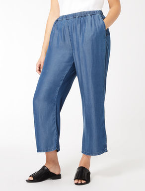Cropped-Hose aus Tencel