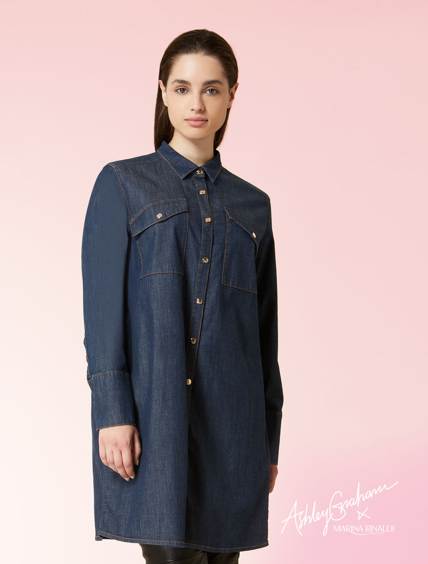 Long denim shirt