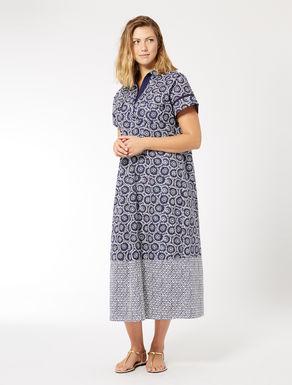 Poplin shirt-dress