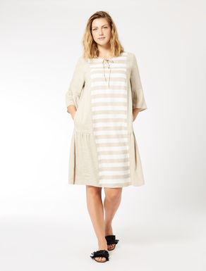 Viscose and linen dress