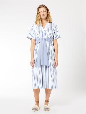 Robe en coton à rayures