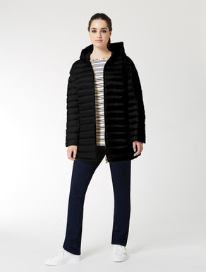 Long drop-proof down jacket