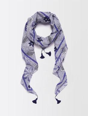 Cotton muslin foulard