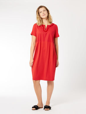 Jersey and poplin dress