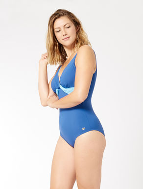 One-piece swimsuit with knot