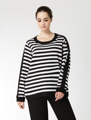 Striped jersey sweatshirt