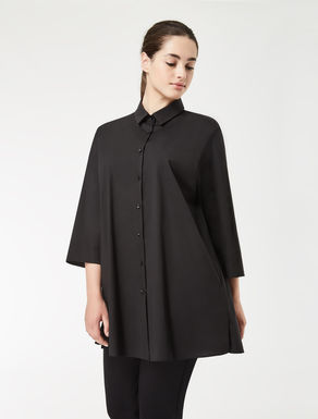 EASY Long cotton poplin shirt