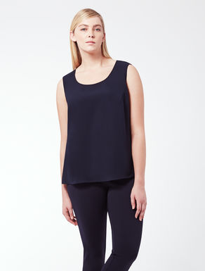 EASY Sleeveless top in floaty fabric