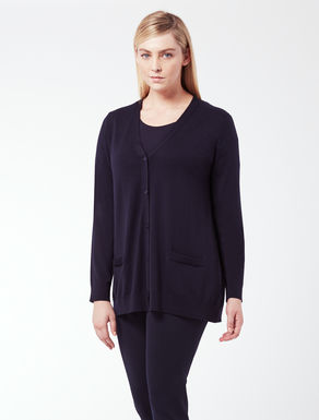 EASY Long cardigan in pure wool