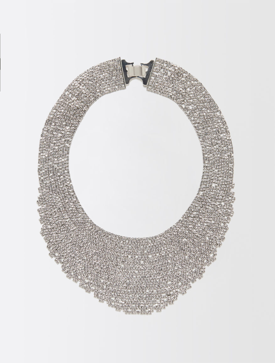 Collier à rangs multiples à strass
