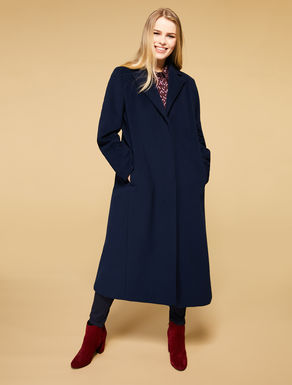 Long wool drap coat