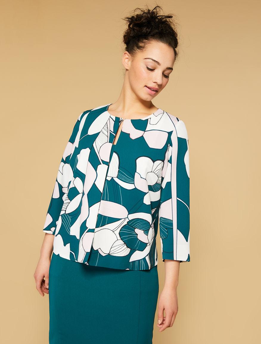 Crepe marocain jacket