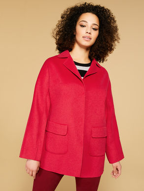 Double wool-blend coat