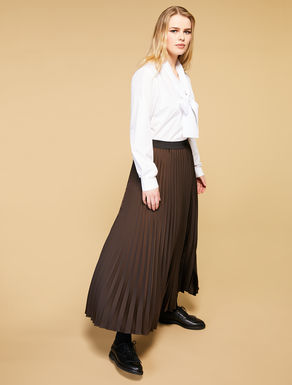 Long envers satin skirt