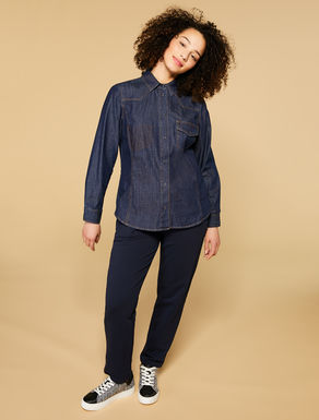 Lightweight stretch denim shirt