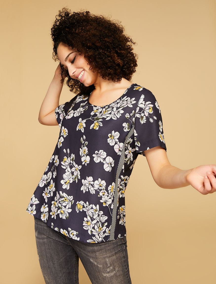 Printed cady tunic