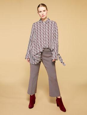Pantaloni flare jacquard