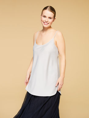 Top in envers satin lucido