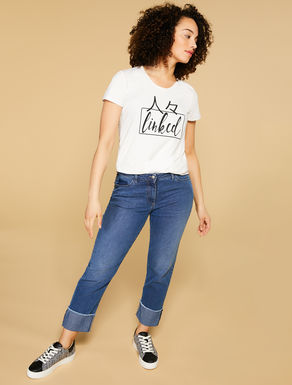 Slim-fit lightweight denim jeans