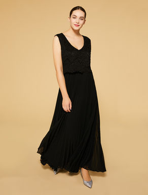 Long lace and georgette dress