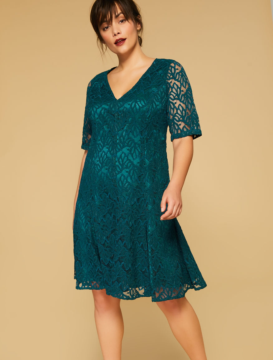 To acquire Teal dark lace dress picture trends