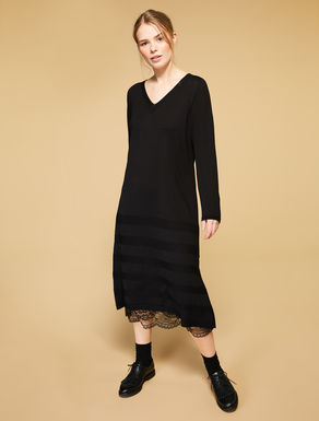 Long wool blend dress