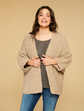 Wool-blend maxi cardigan