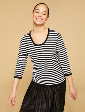 Stretch viscose jumper