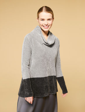 Lurex viscose chenille jumper