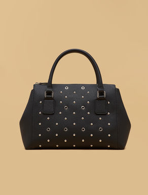 Boston bag with studs