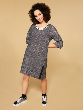 Printed fleece dress