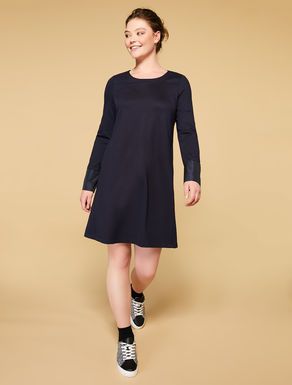 Milano-stitch and taffeta dress