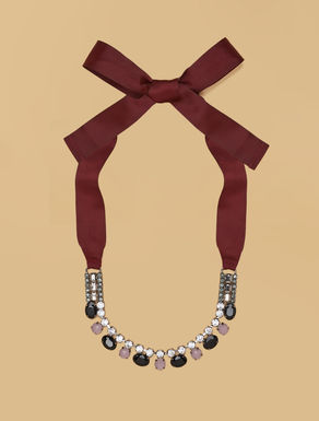 Collar de strass y metal