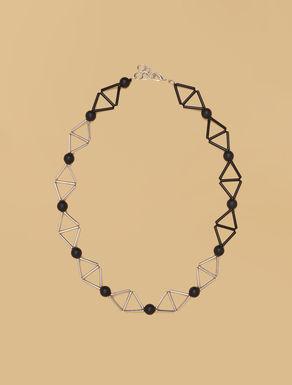 Metall- und Kunstharz-Halskette