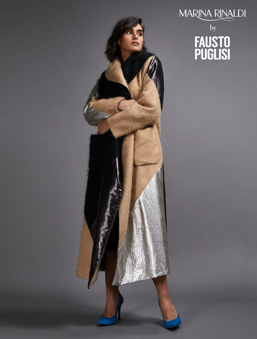 Mohair and lurex coat